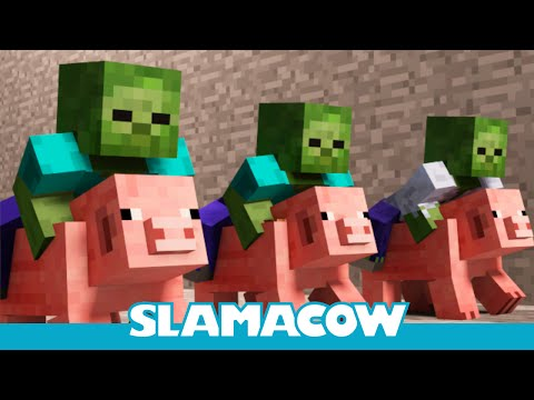 Pig Racing - Minecraft Animation - Slamacow