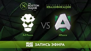 Ad Finem vs Alliance, Boston Major Qualifiers - Europe [GodHunt, Lex]