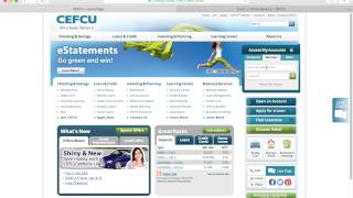 Login - https://www.cefcu.com/checking/online-banking.phpInstructions - http://bank-online.com/cefcu/cefcu-online-banking-login/Members of CEFCU who already have an online account may access their designated service area by going to the secured homepage, entering their 'Login ID' in the login form on the right side of the page, and clicking on the green arrow button. Users must login using their unique ID in order to access the following services:Consumer accountBusiness accountOnline tradingTrust portfolioRewardsAfter selecting which service to access, users must enter their 'Login ID' into the field.