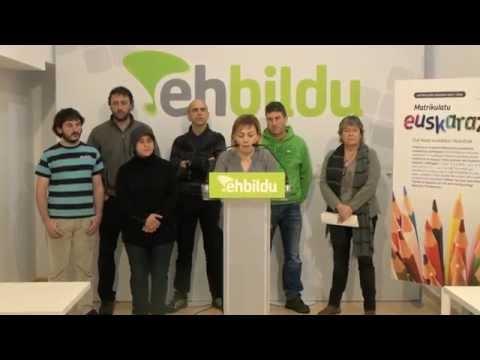 Hacia un único modelo de inmersión lingüística, matricula en euskera