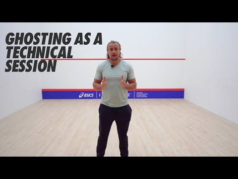 Squash tips: Origins - Ghosting in practice with Joey Barrington - Ghosting as a technical session