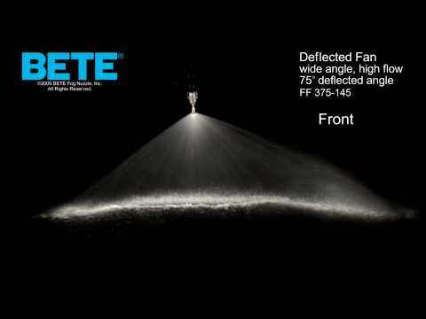FF 375-145 - Wide Angle, High Flow Deflected Fan Spray Pattern Video
