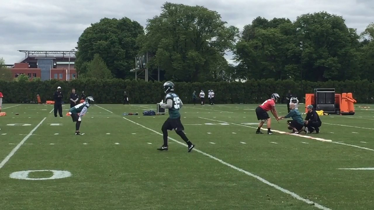 Eagles running back Donnel Pumphrey at rookie minicamp