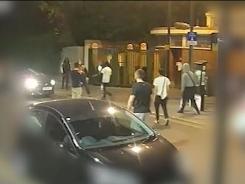 CCTV Footage Captures North London Street S Hooting During Ma Ss Brawl