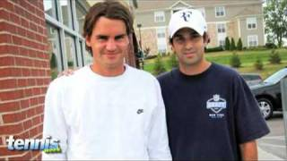 Carrie Milbank dishes all about Roger Federer's look alike and gives us the details on his pregnant fiance.