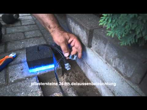 Außenbeleuchtung für Pflastersteine mit LED Selber machen