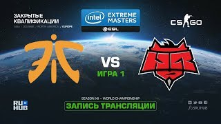 fnatic vs HellRaisers - IEM Katowice Qual EU - map1 - de_overpass [GodMint, SleepSomeWhile]
