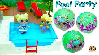 Video LOL Surprise Big Sister Baby Doll Blind Bag Pool Party - Water Toy Video MP3, 3GP, MP4, WEBM, AVI, FLV Juli 2018