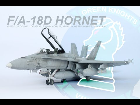 "Kinetic F/A-18D Hornet USMC ""Green Knights"" 1/48 