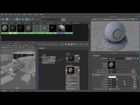 Working with Shading Networks in Maya