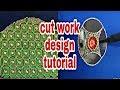 Cut work sleeve design tutorial | Aari embroidery | Hand embroidery