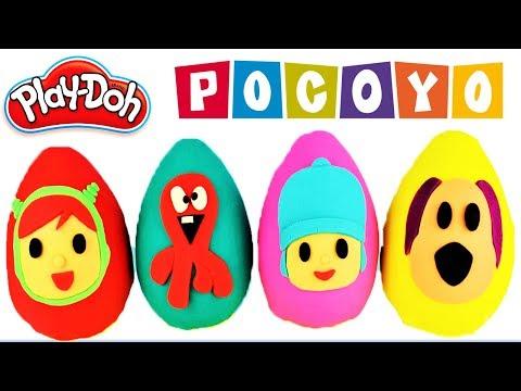 Aprende los Colores   Huevo Gigante Sorpresa Pocoyo  Pulpo FRED POCOYO PATO LOULA NINA