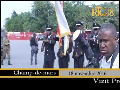 Le Président provisoire d'Haïti, Jocelerme Privert a effectué une visite au MUPANAH