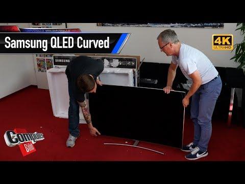 Ausgepackt: 55-Zoll-TV Samsung QLED Curved