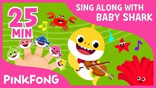 Shark Finger Family & more | Sing Along with Baby Shark | Compilation | Pinkfong Songs for Children