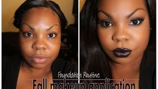 Makeup Application| Flawless Fall Foundation Routine