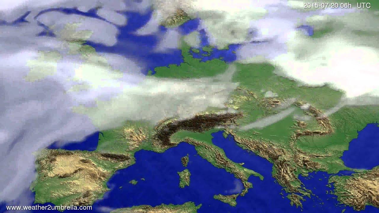 Cloud forecast Europe 2015-07-17
