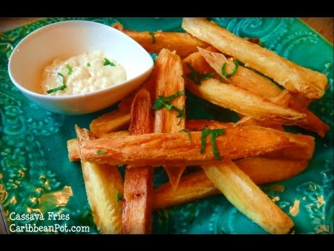 Crispy Golden Cassava (yuca, Manioc) Fries.