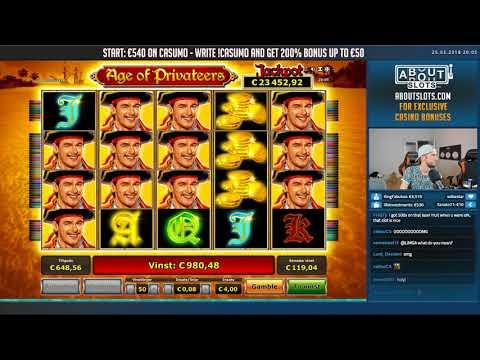 BIG WIN!!! Age of Privateers BIG WIN – Casino Games – Novomatic (gambling)