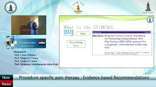 Anesthesia for hip surgery, Should we change our practice? Dr. Eslam Ayman