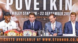 Anthony Joshua vs Alexander Povetkin FULL PRESS CONFERENCE | Matchroom Boxing