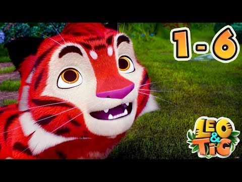 Leo and Tig - All Episodes compilation (1-6) - New animated movie 2018 - Kedoo ToonsTV