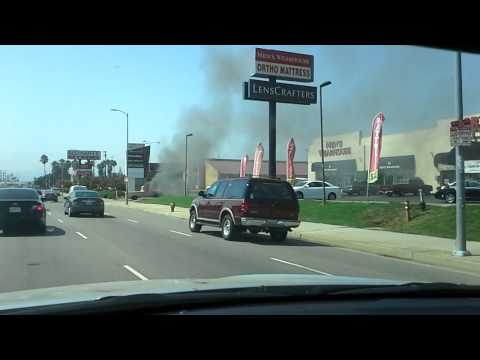Truck On Fire On Tampa Blvd Between Nordhoff & Parthenia, Northridge, CA