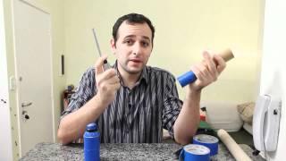 Bazuca cheirosa de desodorante e tubo de papelão