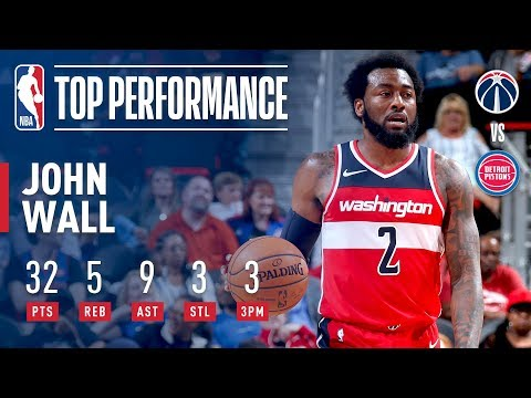 Video: John Wall Drops 32 Points and 9 Assists to Lead Wizards over Pistons | 2018 NBA Preseason