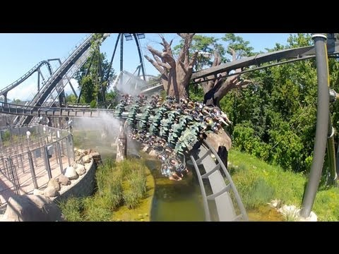 Gardaland - Follow us on Twitter @ThemeParkReview - The world's first B&M Wing Rider roller coaster! Raptor (Also known as X-Raptor) at Gardaland in Italy. This video fe...
