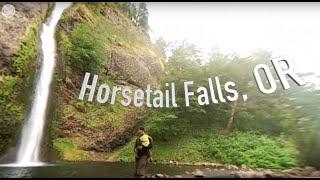Horsetail Falls, Oregon, 360 Video VR, Ryan Ao Media Portland VR