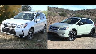 2014 subaru forester vs subaru xv crosstrek vidinfo. Black Bedroom Furniture Sets. Home Design Ideas
