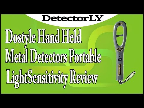 Dostyle Hand Held Metal Detectors, Portable LightSensitivity Review