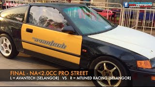 MUSC Kulim 201m Drag Race 2015 - Na2.0cc Pro Street Video