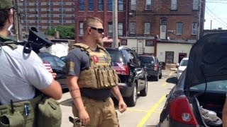 Independence (OH) United States  city photo : Open carry marchers outside Cleveland RNC