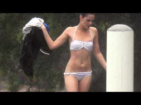 Kristen Stewart's Tiny White Bikini Raises Eyebrows Video HD