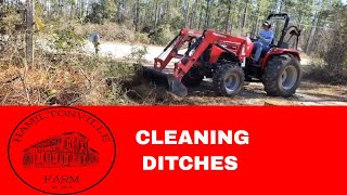 2. Driveway drainage ditch with Mahindra 4540 4wd- 2019