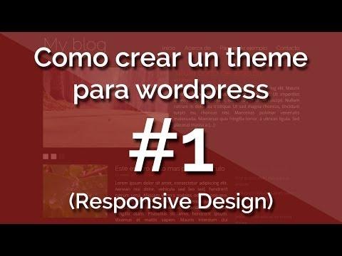 [Curso] Como crear un theme para wordpress (con Responsive Design) 1.- Introducción