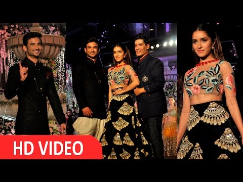 Uncut- Sushant Singh Rajpoot & Shraddha Kapoor On Ram For Manish Malhotra At LFW 2016