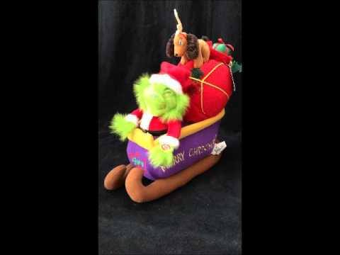 Beverly Hills Teddy Bear Co Grinch Who Stole Christmas Sleigh Ride Plush