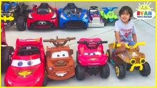 Video Ryan's Power Wheels Collections Ride On Car! MP3, 3GP, MP4, WEBM, AVI, FLV November 2018