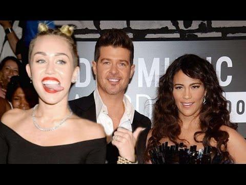 Miley Cyrus Causes Robin Thicke & Paula Patton Split