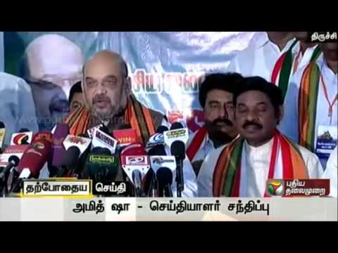 BJP-president-Amit-Shah-addressing-the-press-at-Trichy-while-on-his-campaign-for-the-elections
