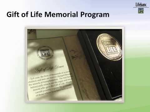 Lifebanc Gift of Life Memorial Box Program