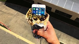 Do You Actually Think a Burrito Can Protect an iPhone From a 100 Ft Drop?