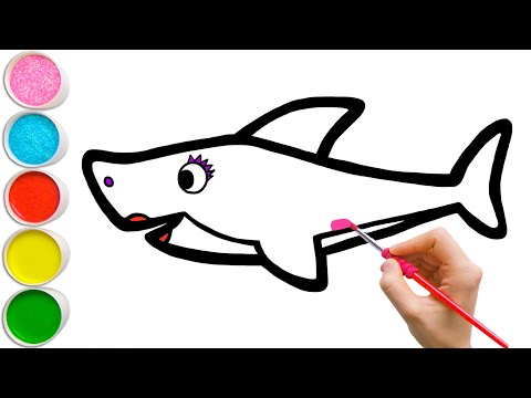 Learn How to Draw Pink Mommy Shark | Easy Drawing for Kids #37