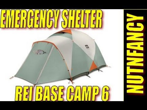 CAMP - A big mountain worthy tent. The REI Base Camp 6 will stand up to harsh conditions and have plenty of room to spare for four people with all the gear. Six wil...