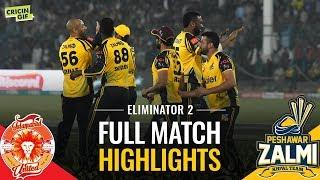 PSL 2019 Eliminator 2: Islamabad United vs Peshawar Zalmi | Caltex Full Match Highlights