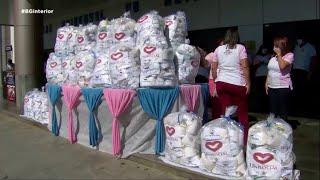Voluntários da Universal entregam 700 kits de higiene para Fundação Casa