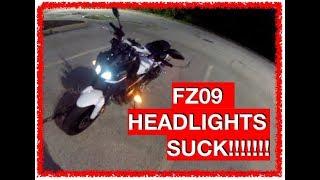 8. 2017 FZ09 Night Ride - Major Headlight Issue